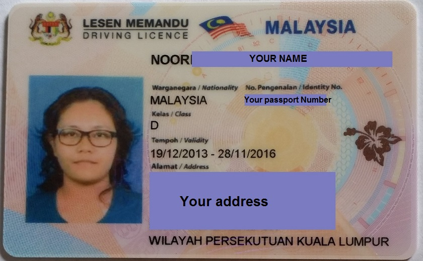 رخصة القيادة في ماليزيا