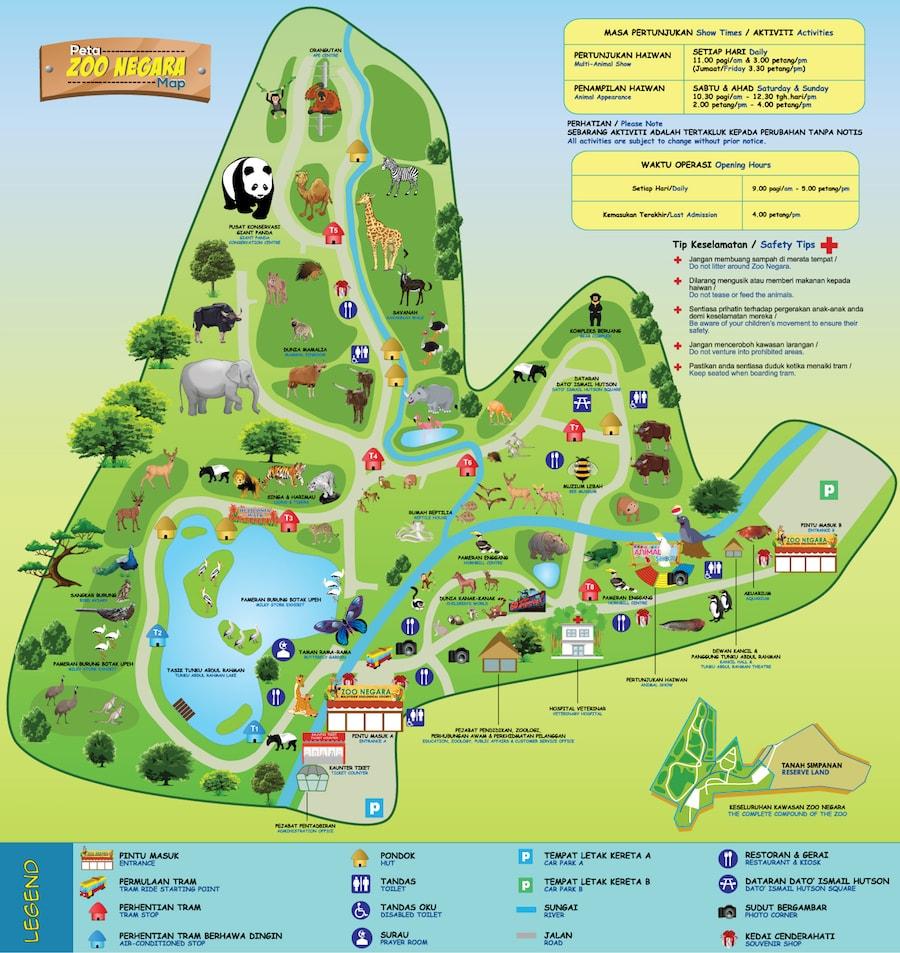خريطة حديقة الحيوان مالیزیا